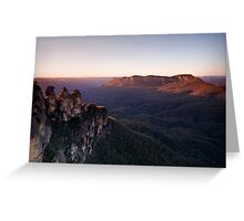 Sunrise at Echo Point, Katoomba Greeting Card