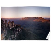 Sunrise at Echo Point, Katoomba Poster