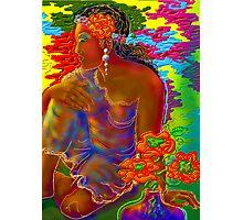 'Tahitian Flowers' or Gauguin Gone Woodstock Photographic Print