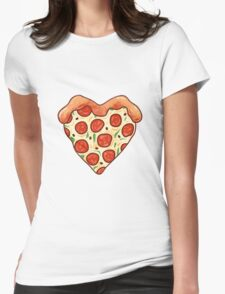 I Heart Pizza Womens Fitted T-Shirt