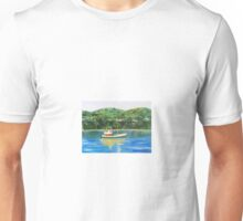 Fishing boat in Tadoussac Unisex T-Shirt