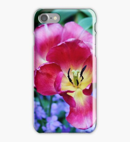 Pink, Yellow And Blue Flowers iPhone Case/Skin