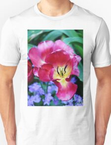 Pink, Yellow And Blue Flowers T-Shirt