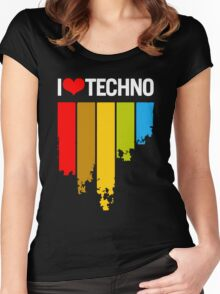 I Love Techno Women's Fitted Scoop T-Shirt