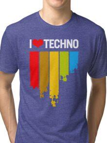 I Love Techno Tri-blend T-Shirt