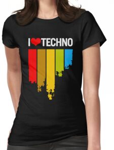 I Love Techno Womens Fitted T-Shirt