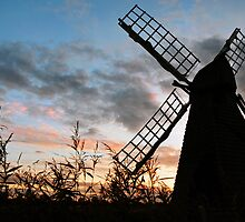 Wicken Windpump silhouette by Rachel Slater