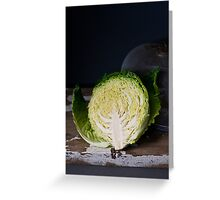 Savoy Cabbage Greeting Card