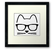 Cat Nerd Framed Print