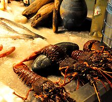 SKIATHOS - Lobsters display at a Restaurant entance by Daniela Cifarelli