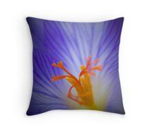 Crocus Blue Throw Pillow