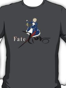 Fate zero night saber anime shirt T-Shirt