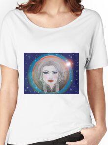 cosmic girl navy blue Women's Relaxed Fit T-Shirt