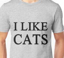 I Like Cats Unisex T-Shirt