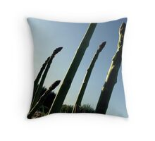 Morning Visitors Throw Pillow