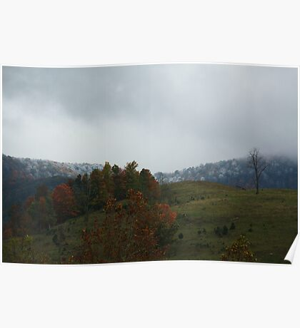 First Snow on Clinch Mountain Poster