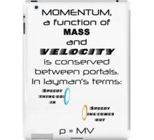 Momentum - Mass and Velocity iPad Case/Skin