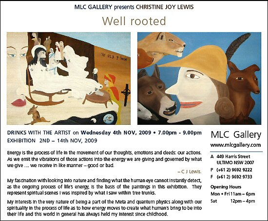 Solo Exhibition Invitation by C J Lewis