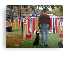 A Man and His Dog ~waiting patiently... Metal Print