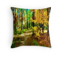 Deep In The Woods of Light & Color Throw Pillow