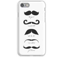 Monsieur Moustache iPhone Case/Skin