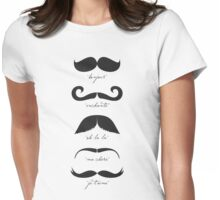 Monsieur Moustache Womens Fitted T-Shirt