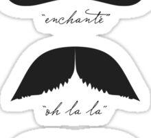Monsieur Moustache Sticker
