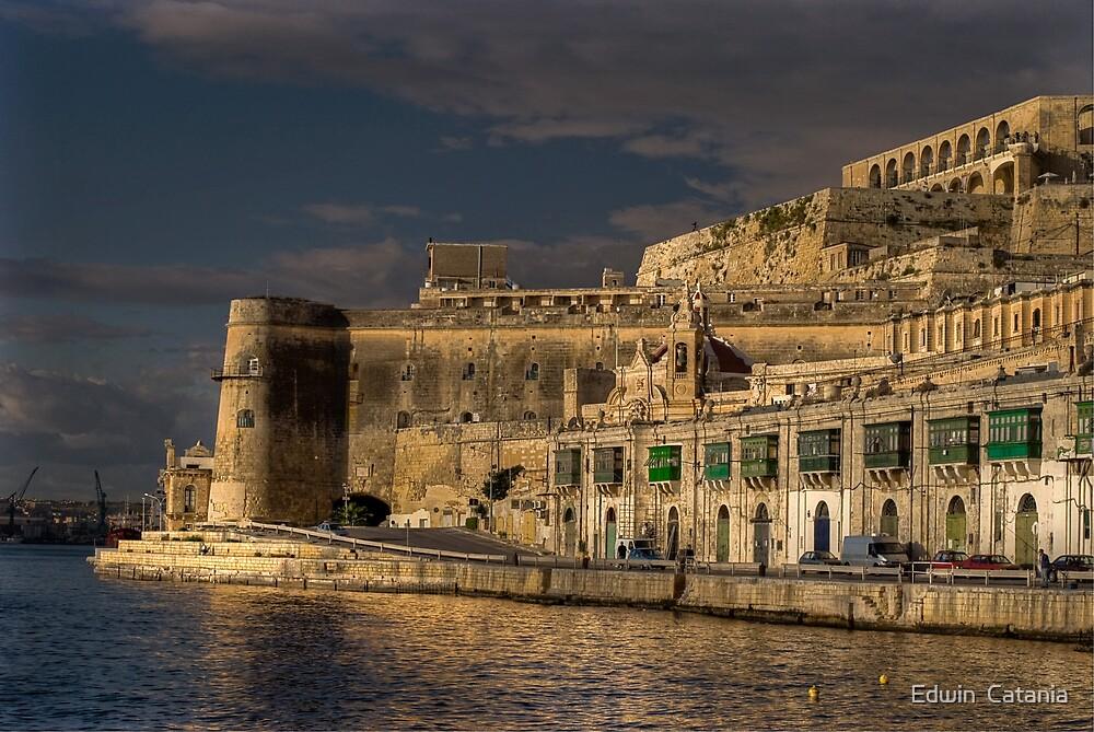 Pixkerija Wharf Grand Harbour Valletta Malta by Edwin  Catania