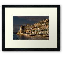 Pixkerija Wharf Grand Harbour Valletta Malta Framed Print