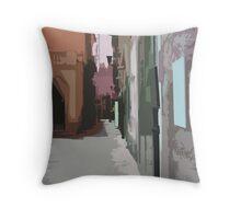 Abstracrt Sorrento Alley Throw Pillow