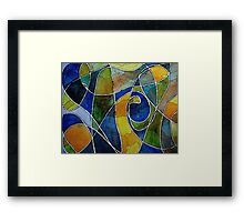 Watercolor Pen and Ink Abstract Framed Print