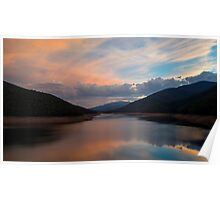 Sunset on a Dam Poster
