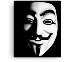 Fawkes Mask Canvas Print