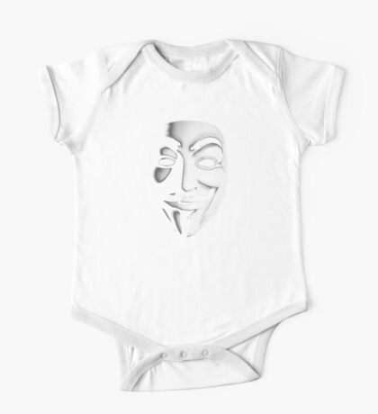 Fawkes Mask One Piece - Short Sleeve