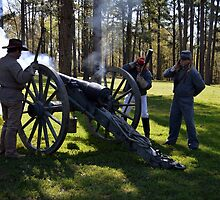 Firing the Cannon at Camp Ford. by Catherine Sherman