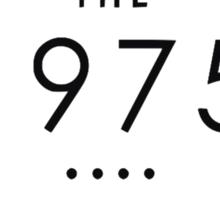 THE 1975 - CLASSIC LOGO, BLACK Sticker