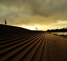 sunrise on the operahouse steps by bijmin