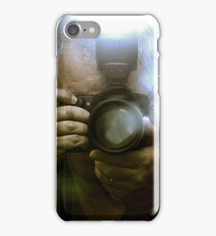 Photographer Capturing Light Through a Mirror iPhone Case/Skin