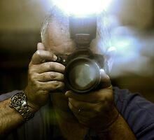 Photographer Capturing Light Through a Mirror by Buckwhite