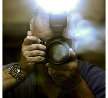 Photographer Capturing Light Through a Mirror Photographic Print