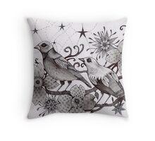 moonlight birds Throw Pillow