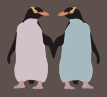 Pastel Penguins holding hands Kids Clothes