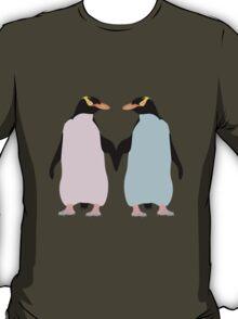 Pastel Penguins holding hands T-Shirt