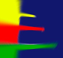 Primary Colors Blue - Yellow - Red - Green with Blur II by Buckwhite