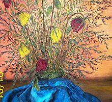 ramo en tela azul by mbeatriz