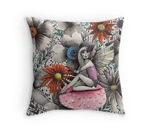 sundown fairy garden  Throw Pillow