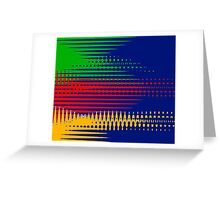 Primary Colors Drifting - Blue - Yellow - Red - Green IV Greeting Card