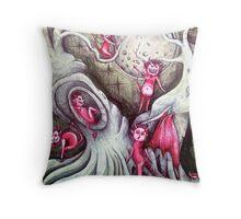 dancing devils  Throw Pillow