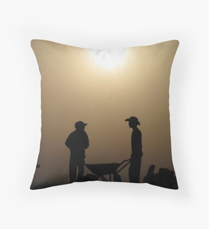 Blinded by the dawn Throw Pillow