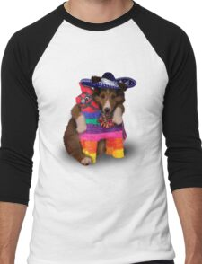 Mexican Dog Men's Baseball ¾ T-Shirt